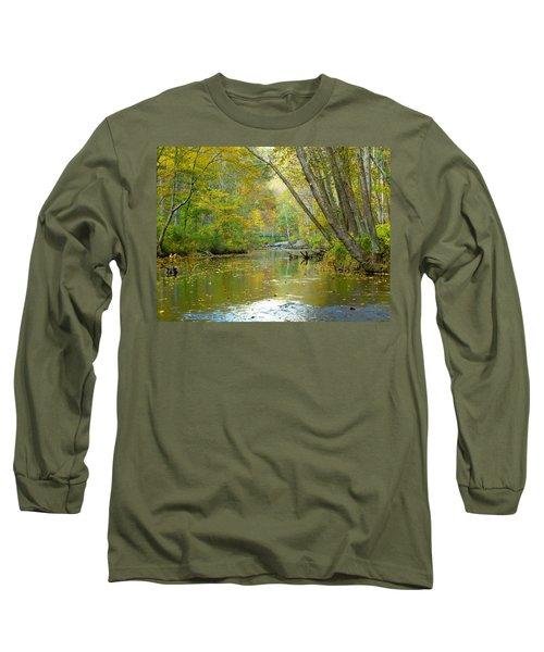 Falls Road Bridge Over The Gunpowder Falls Long Sleeve T-Shirt by Donald C Morgan
