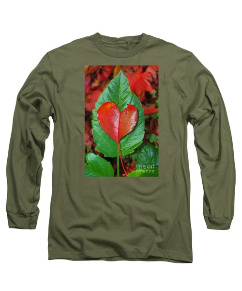 Fall's Vibrant Contrast Long Sleeve T-Shirt by Debra Thompson