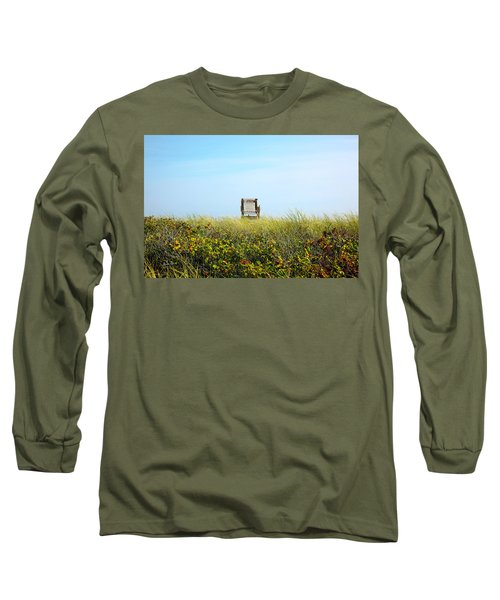 Long Sleeve T-Shirt featuring the photograph Falmouth Beach Open 9-5 by Madeline Ellis