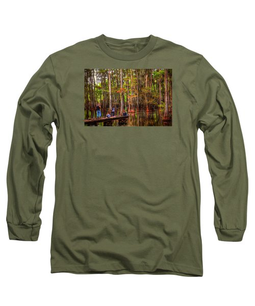 Family Bayou Fishing Long Sleeve T-Shirt by Ester  Rogers