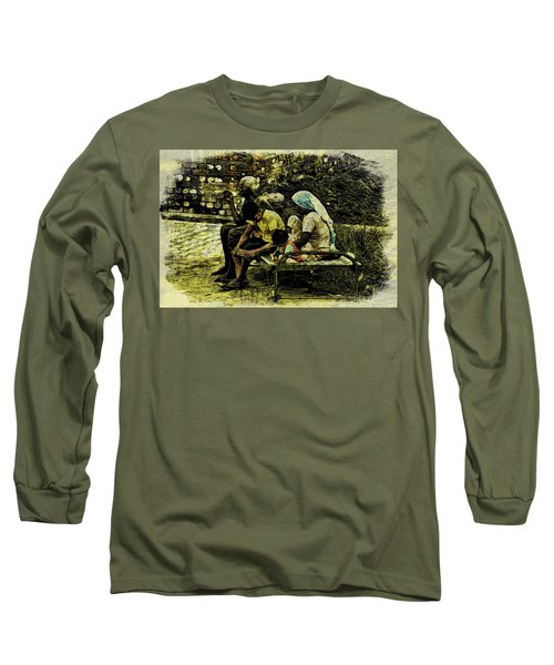 Long Sleeve T-Shirt featuring the digital art Family Cot by Bliss Of Art