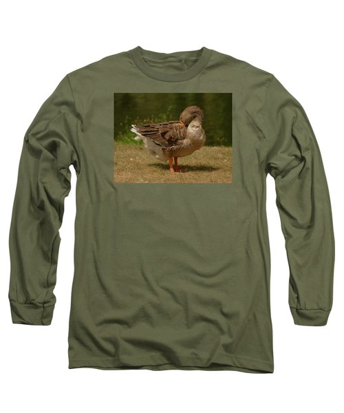 Long Sleeve T-Shirt featuring the photograph Fancy Goose by Ramona Whiteaker