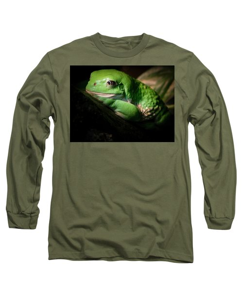 Long Sleeve T-Shirt featuring the photograph Fantastic Green Frog by Jean Noren