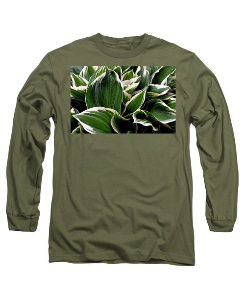 Fantasy In White And Green Long Sleeve T-Shirt