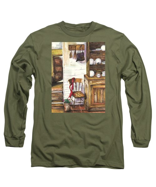 Farm House Long Sleeve T-Shirt by Darren Cannell