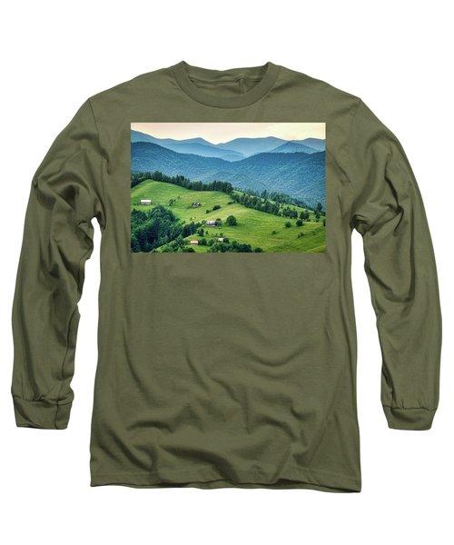Farm In The Mountains - Romania Long Sleeve T-Shirt