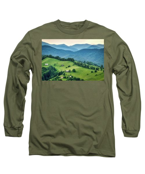 Farm In The Mountains - Romania Long Sleeve T-Shirt