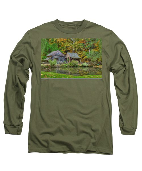 Farm In Woods Long Sleeve T-Shirt