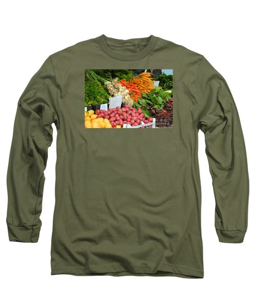 Long Sleeve T-Shirt featuring the photograph Farmer's Market by Jeanette French