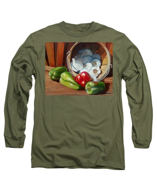 Long Sleeve T-Shirt featuring the painting Farmers Market by Susan Dehlinger