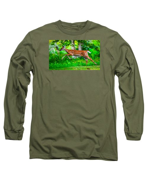Fast Fawn 2 Long Sleeve T-Shirt by Brian Stevens