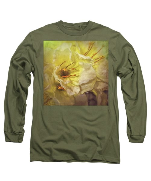 Long Sleeve T-Shirt featuring the photograph Faux Flowers by Lewis Mann