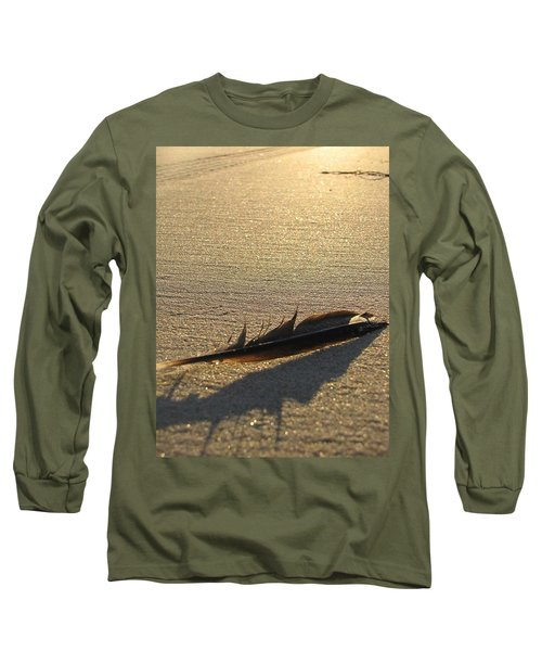 Feather In The Sand Long Sleeve T-Shirt