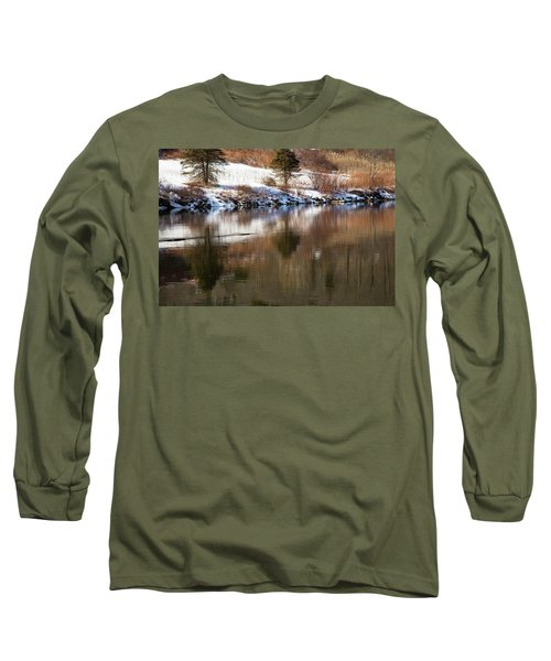 Long Sleeve T-Shirt featuring the photograph February Reflections by Karol Livote
