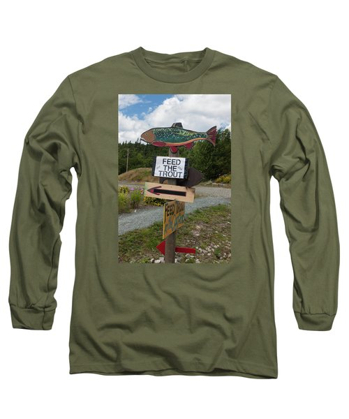 Feed The Trout Long Sleeve T-Shirt by Suzanne Gaff