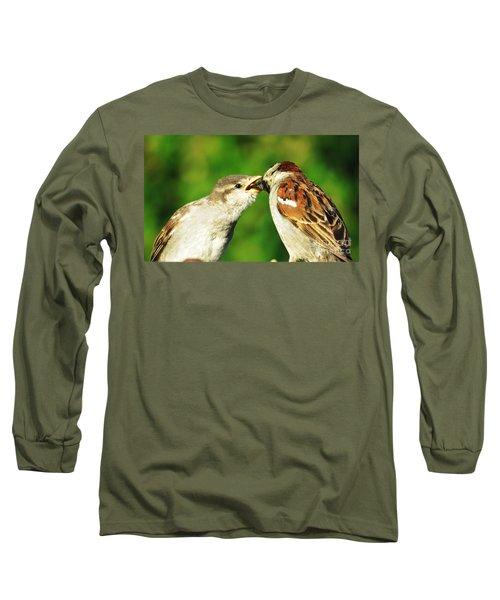 Feeding Baby Sparrow 3 Long Sleeve T-Shirt