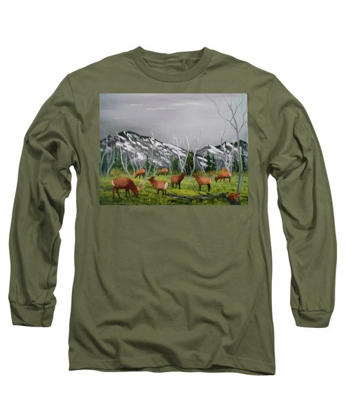 Feeding Elk Long Sleeve T-Shirt
