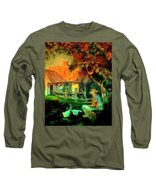Feeding The Ducks,1985 Long Sleeve T-Shirt
