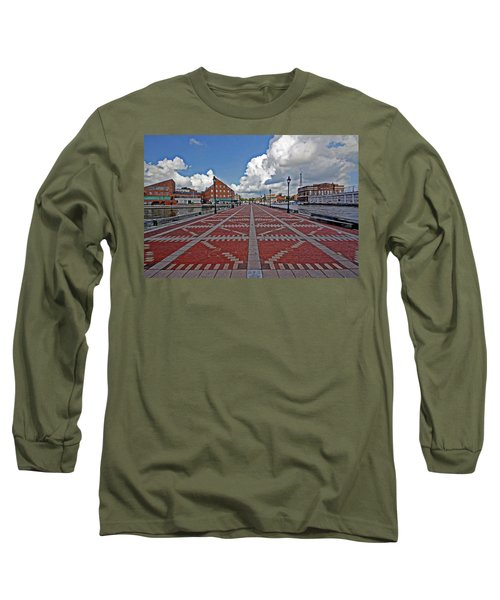 Long Sleeve T-Shirt featuring the photograph Fells Point Pier by Suzanne Stout