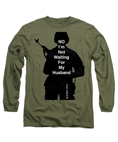 Long Sleeve T-Shirt featuring the photograph Female Veteran by Melany Sarafis