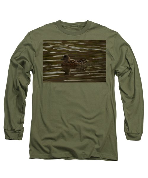 Long Sleeve T-Shirt featuring the photograph Female Wigeon by Jeff Swan