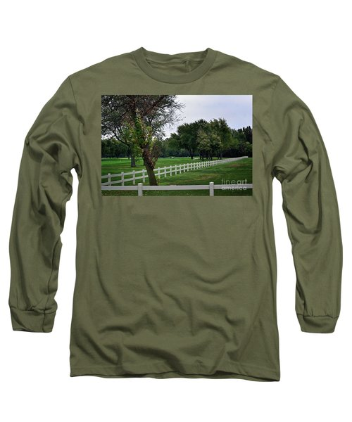 Fence On The Wooded Green Long Sleeve T-Shirt