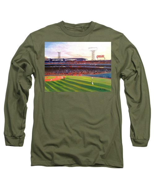 Fenway Park Long Sleeve T-Shirt by Rose Wang