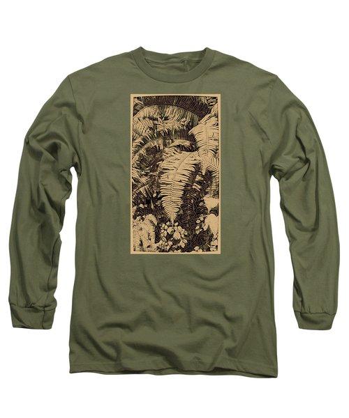 Fern Art No4 Long Sleeve T-Shirt by Bonnie Bruno