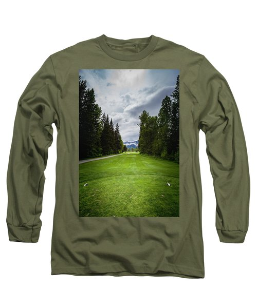 Long Sleeve T-Shirt featuring the photograph Fernie Tee Box by Darcy Michaelchuk