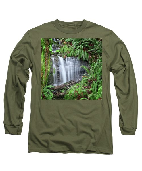 Ferns And Waterfalls Long Sleeve T-Shirt