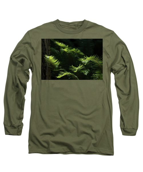 Ferns In The Forest Long Sleeve T-Shirt by Keith Boone
