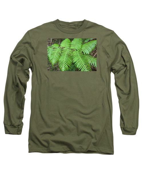 Long Sleeve T-Shirt featuring the photograph Ferns by Karen Nicholson
