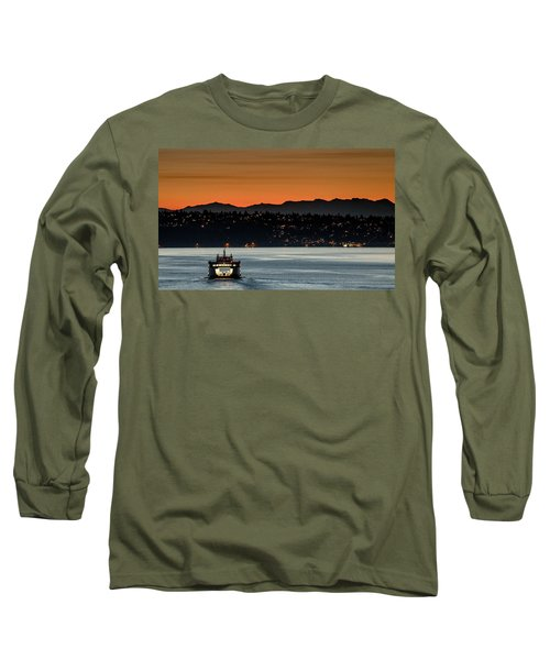 Ferry Sealth At Dawn Long Sleeve T-Shirt by E Faithe Lester