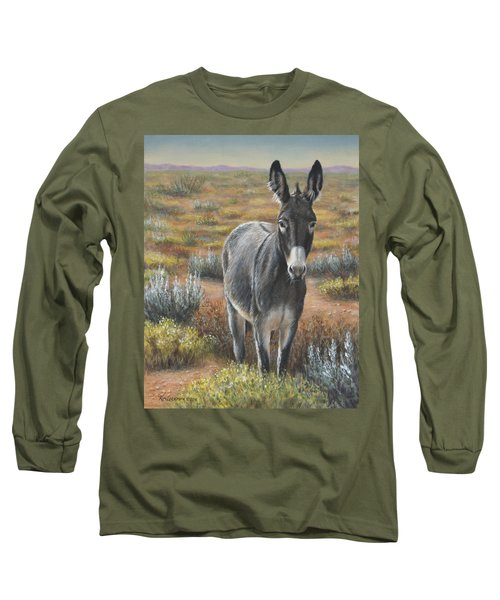 Long Sleeve T-Shirt featuring the painting Festus by Kim Lockman