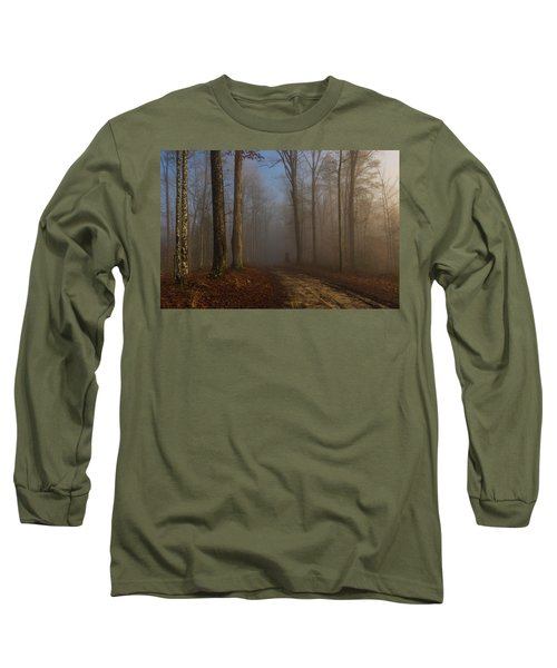 Foggy Morning In The Forest Long Sleeve T-Shirt