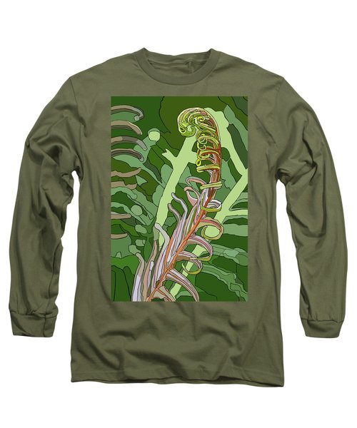 Fiddlehead Long Sleeve T-Shirt by Jamie Downs