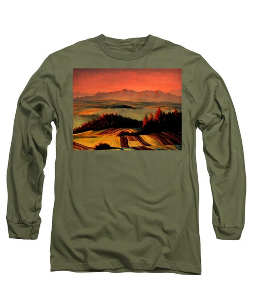 Field And Mountain Long Sleeve T-Shirt