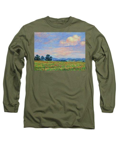 Field Of Flowers- Burkes Garden Fields Long Sleeve T-Shirt