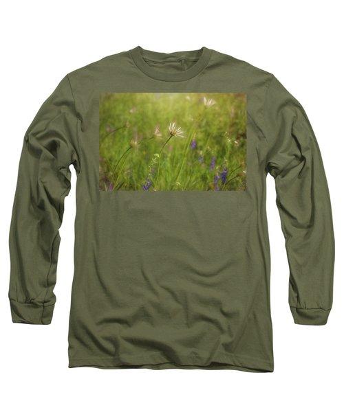 Field Of Flowers Long Sleeve T-Shirt