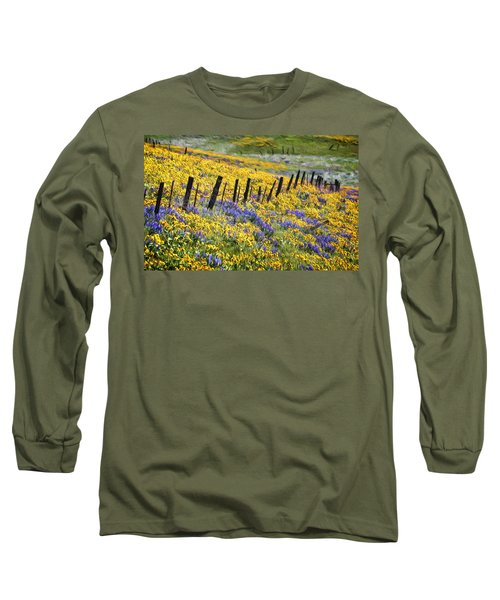 Field Of Gold And Purple Long Sleeve T-Shirt