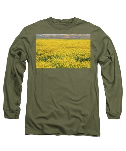Long Sleeve T-Shirt featuring the photograph Field Of Goldfields by Marc Crumpler