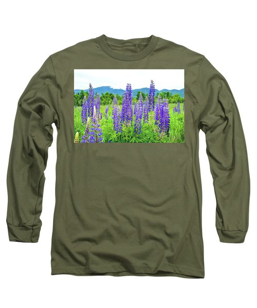 Long Sleeve T-Shirt featuring the photograph Field Of Purple by Greg Fortier