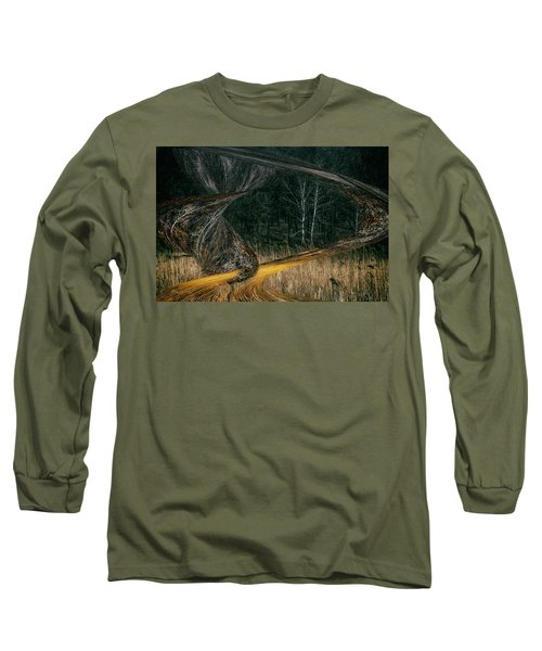 Field Warping Long Sleeve T-Shirt