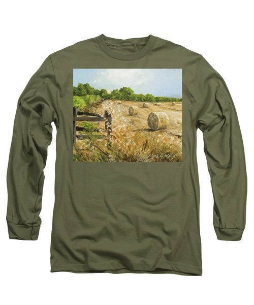 Fields Of Hay Long Sleeve T-Shirt by Marty Garland