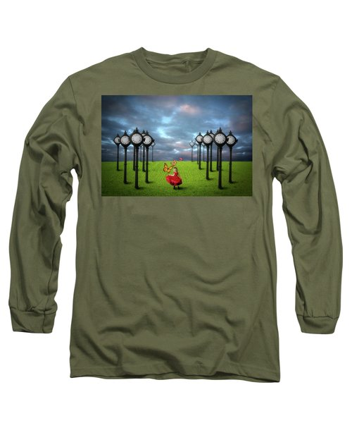 Fields Of Time Long Sleeve T-Shirt by Nathan Wright