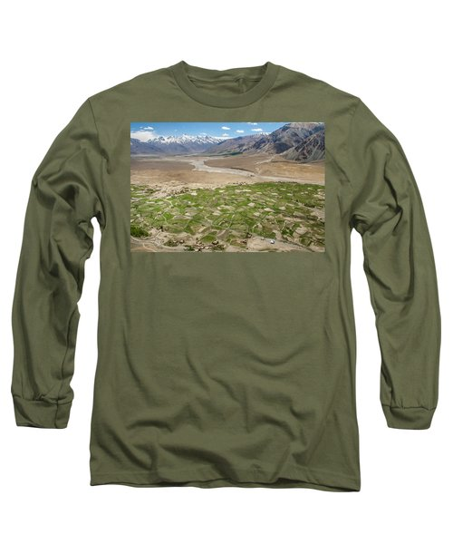 Long Sleeve T-Shirt featuring the photograph Fields Of Zangla, Zanskar, 2008 by Hitendra SINKAR