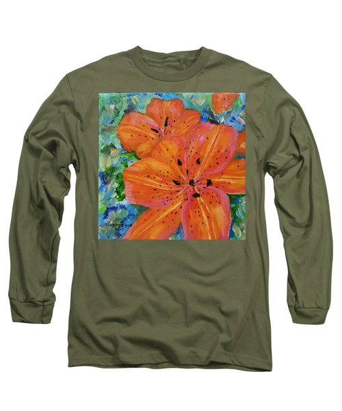 Long Sleeve T-Shirt featuring the painting Fierce Tiger by Judith Rhue