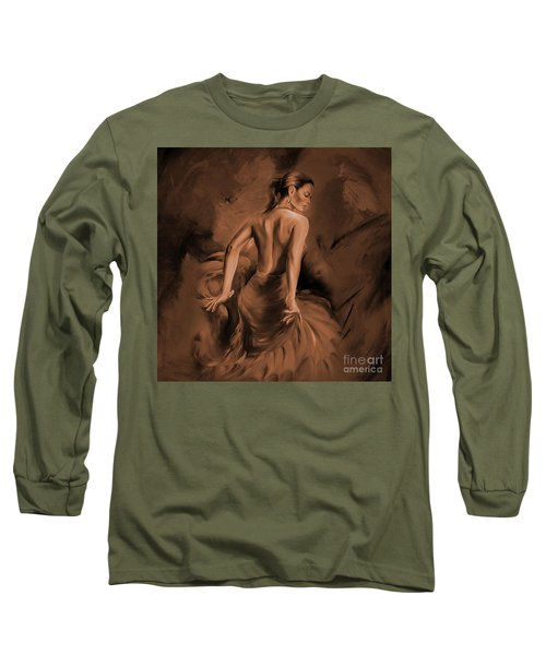 Long Sleeve T-Shirt featuring the painting Figurative Art 007dc by Gull G