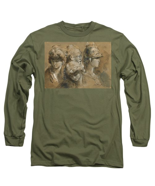Figures Drawing Long Sleeve T-Shirt