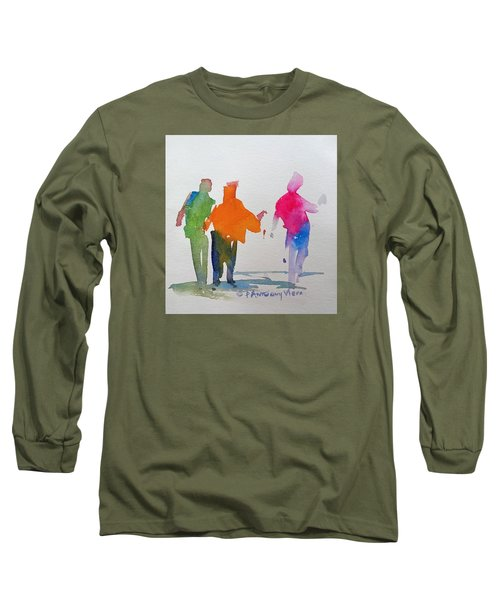 Figures In Motion  Long Sleeve T-Shirt by P Anthony Visco